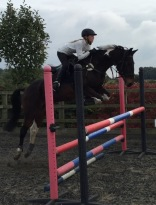 Tabatha jumping lesson with Robert Massey