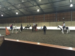 Jumping lesson with Robert Massey