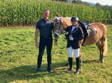 Giulia Frank / Genoa mit Trainer Robert K Massey